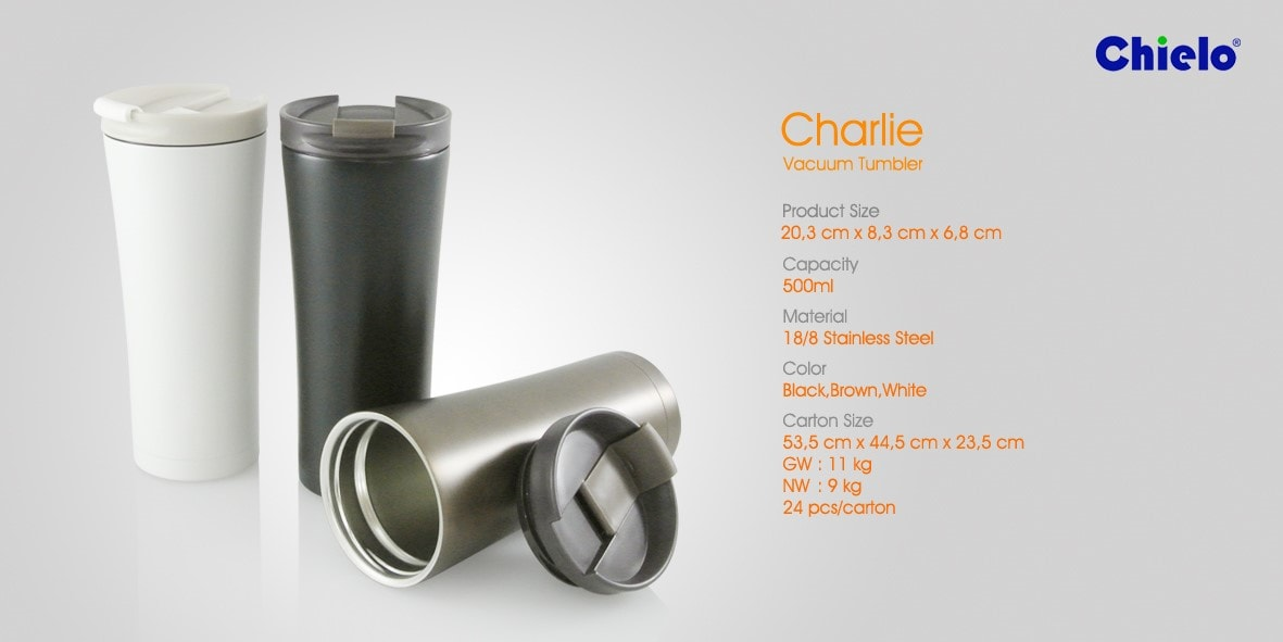Tumbler Stainless Steel Promosi - Charlie
