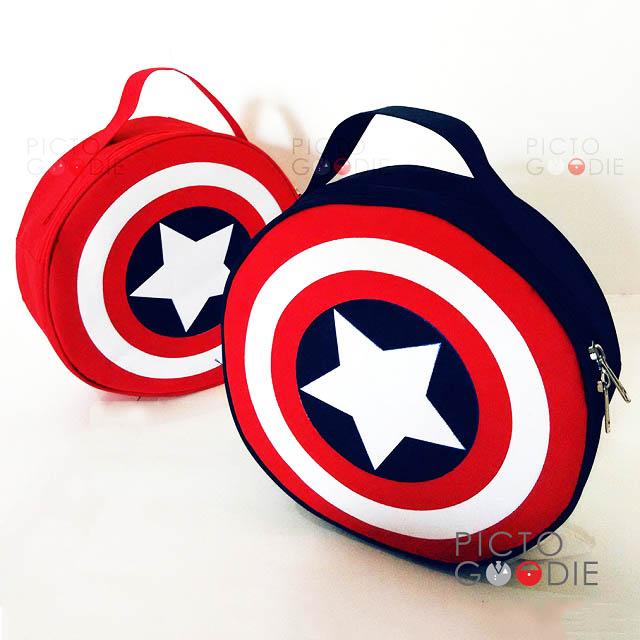 Tas Bulat Anak - Captain America