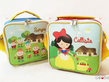 Tas Lunch Bag Anak - Cinderella Theme