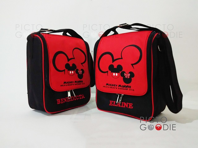 Tas Lunch Bag Berdiri - Mickey Silhouette