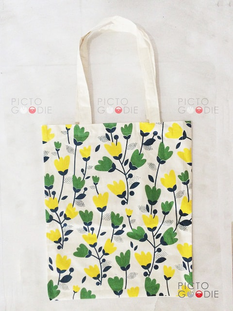Tas Blacu - Sablon Flower