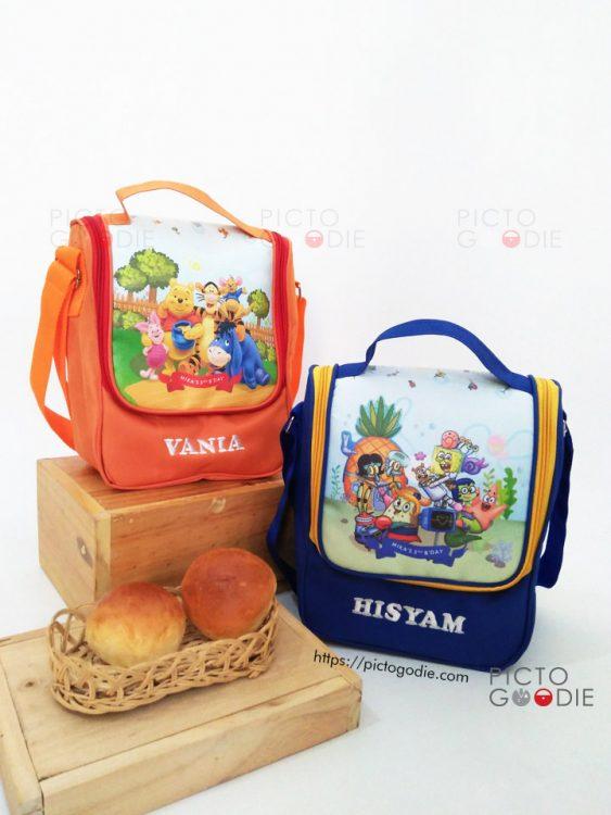 Lunch Bag Berdiri - Winnie The Pooh Spongebob