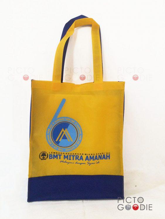 Tas Spunbond - Kuning Biru - Mitra Amanah - Surabaya