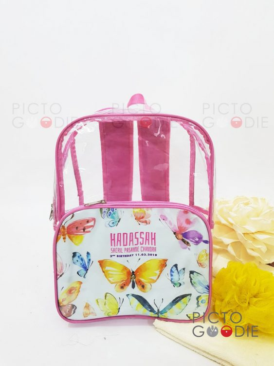 Tas Ransel Mika - Makassar - Animal Watercolour - Detail