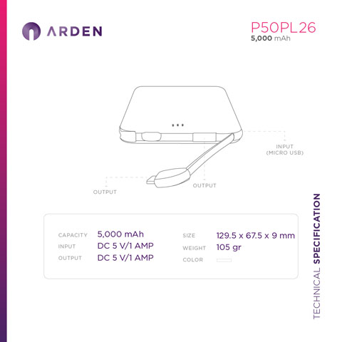 Power Bank - P50PL26 (4)