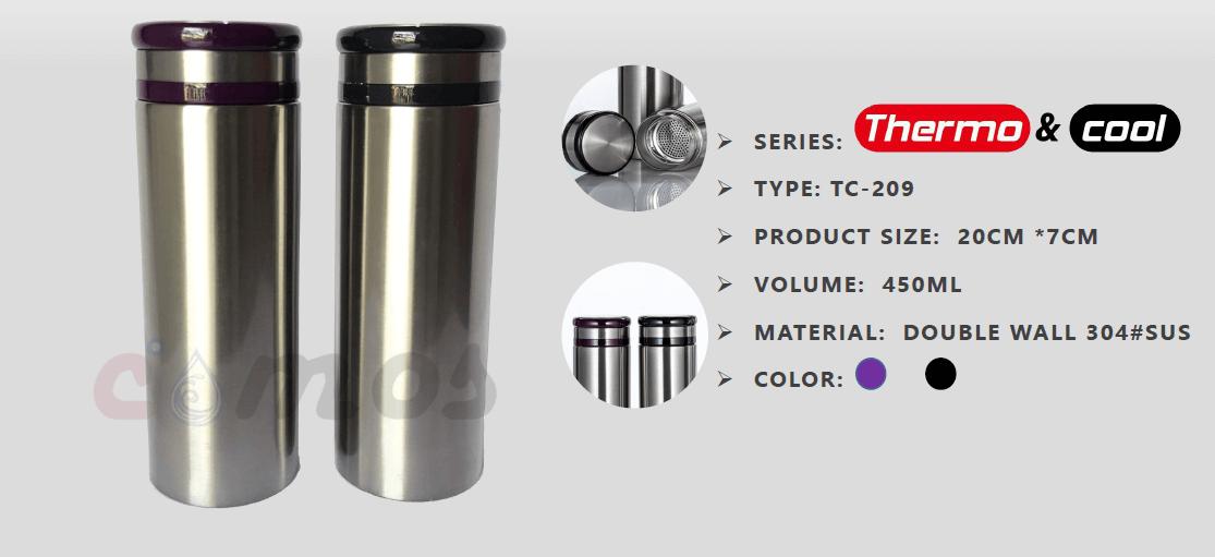 Straight Vacuum Tumbler - Termos
