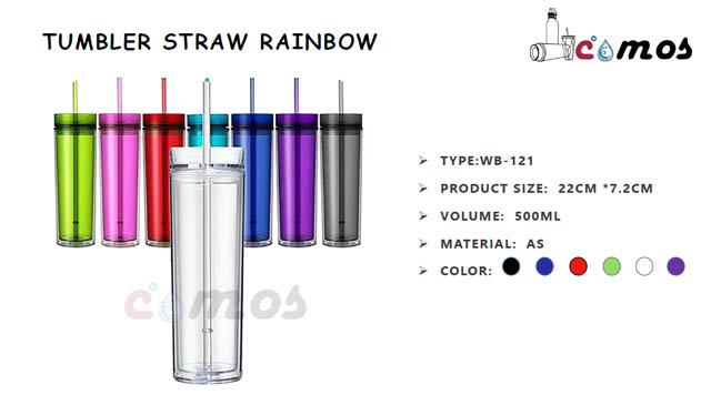 Tumbler Straw Rainbow